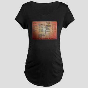 Abraxis Coffee Shop Maternity Dark T-Shirt