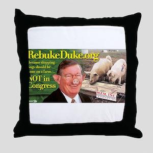 RebukeDuke.org Throw Pillow