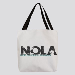 NOLA New Orleans Turquoise Gray Polyester Tote Bag