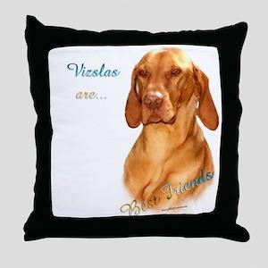 Vizsla Best Friend 1 Throw Pillow