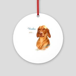 Vizsla Best Friend 1 Ornament (Round)