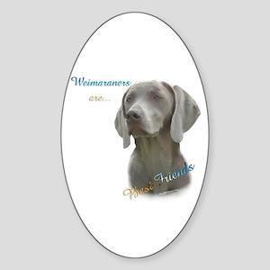 Weimaraner Best Friend 1 Oval Sticker