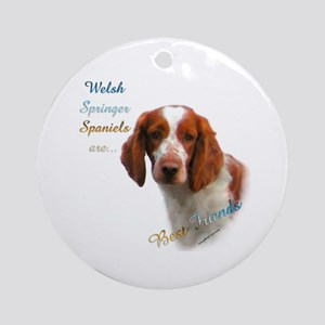 Welsh Springer Best Friend 1 Ornament (Round)