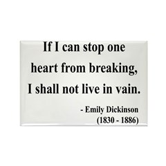 Emily Dickinson 9 Rectangle Magnet