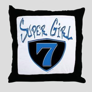 Super Girl #7 Throw Pillow