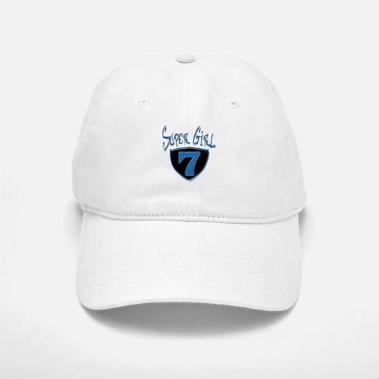 Super Girl #7 Baseball Baseball Cap