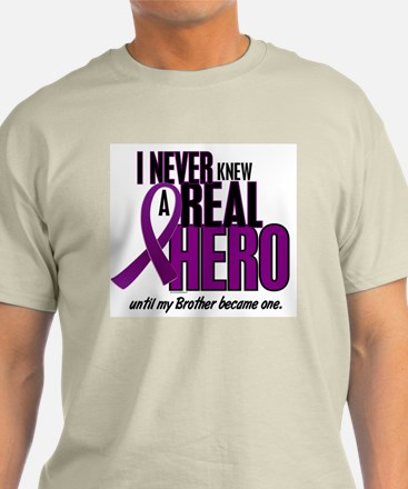 Never Knew A Hero 2 Purple (Brother) T-Shirt
