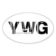 Winnipeg Canada YWG Air Wear Oval Decal