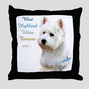 Westie Best Friend 1 Throw Pillow