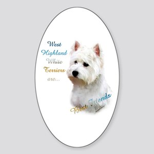 Westie Best Friend 1 Oval Sticker