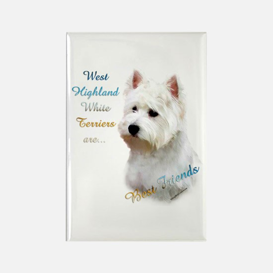 Westie Best Friend 1 Rectangle Magnet