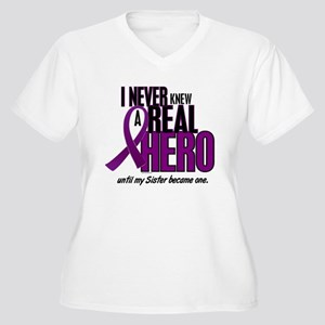 Never Knew A Hero 2 Purple (Sister) Women's Plus S