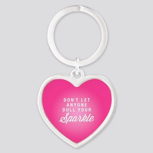 Dull Your Sparkle Heart Keychain