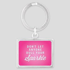 Dull Your Sparkle Landscape Keychain