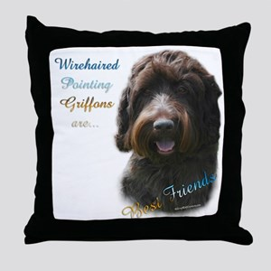 Wirehaired Best Friend 1 Throw Pillow