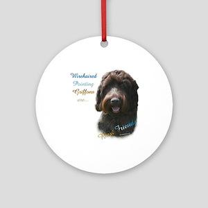 Wirehaired Best Friend 1 Ornament (Round)