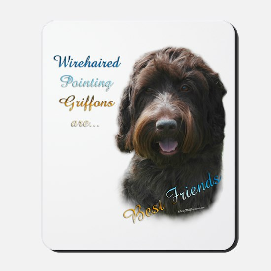 Wirehaired Best Friend 1 Mousepad
