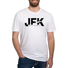 New York City JFK Airport Black Des Shirt