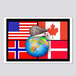 Global Hedgie Postcards (Package of 8)
