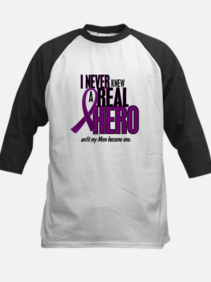 Never Knew A Hero 2 Purple (Mom) Kids Baseball Jer