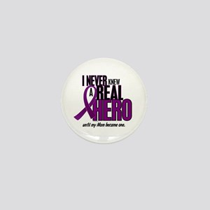 Never Knew A Hero 2 Purple (Mom) Mini Button
