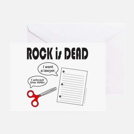 ROCK IS DEAD/PAPER SCISSOR ROCK Greeting Card