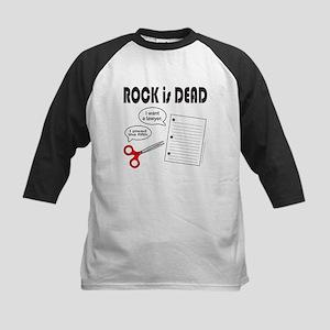 ROCK IS DEAD/PAPER SCISSOR ROCK Kids Baseball Jers