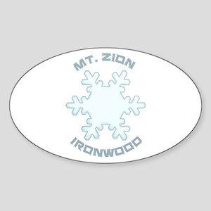 Mt. Zion Ski Area - Ironwood - Michigan Sticker