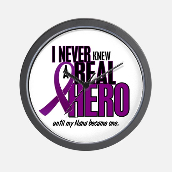 Never Knew A Hero 2 Purple (Nana) Wall Clock