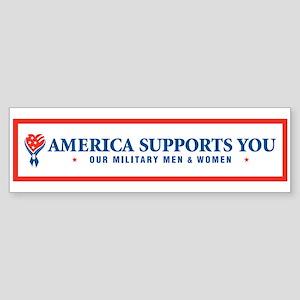 America Supports You! Bumper Sticker