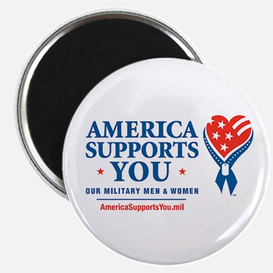 """America Supports You! 2.25"""" Magnet (10 pack)"""