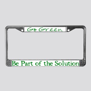 Go Green - License Plate Frame