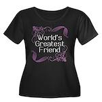 World's Greatest Friend Women's Plus Size Scoop Ne