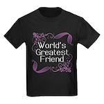 World's Greatest Friend Kids Dark T-Shirt