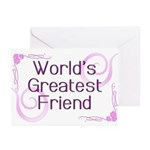 World's Greatest Friend Greeting Cards (Pk of 20)