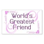 World's Greatest Friend Rectangle Sticker 50 pk)