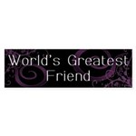 World's Greatest Friend Bumper Sticker (50 pk)
