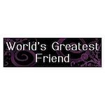 World's Greatest Friend Bumper Sticker (10 pk)