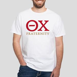 Theta Chi Letters White T-Shirt