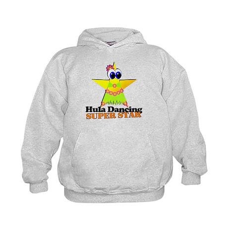 Hula Dancing Super Star Kids Hoodie