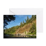 Eel River Cliff Greeting Card