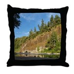 Eel River Cliff Throw Pillow