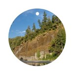 Eel River Cliff Ornament (Round)