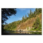 Eel River Cliff Large Poster