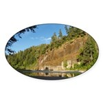 Eel River Cliff Oval Sticker