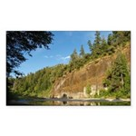 Eel River Cliff Rectangle Sticker