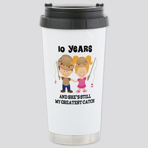 10th Anniversary Husband Gift Travel Mug