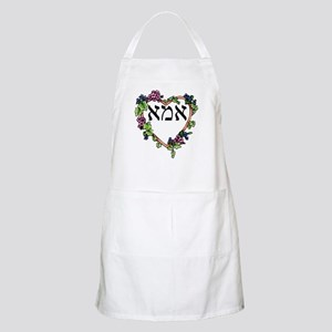 """Mother Heart"" in Hebrew BBQ Apron"