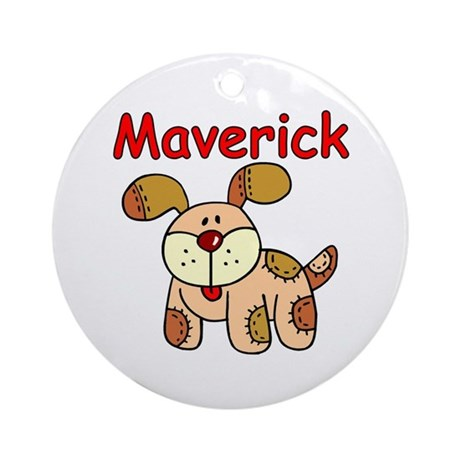 Maverick Puppy Ornament (Round)