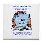 USS Medregal Reunkoin Tile Coaster